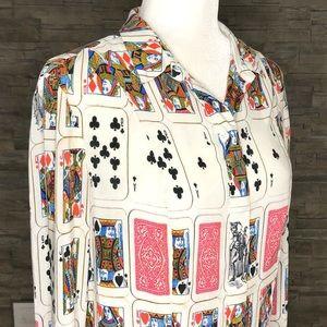 Riani vintage card motif shirt